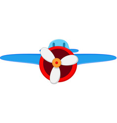 cartoon air plane vector image vector image