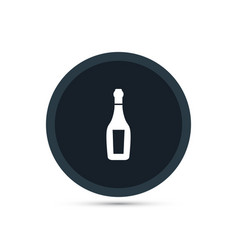 Champagne icon simple drink vector