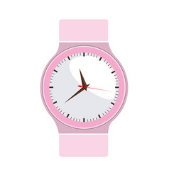 Colorful graphic of female analog wristwatch vector