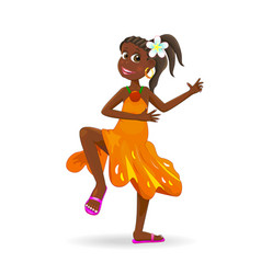 Dancing african girl vector