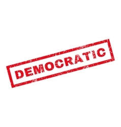 Democratic rubber stamp vector
