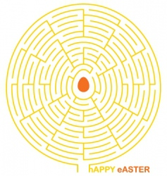 easter maze vector image vector image