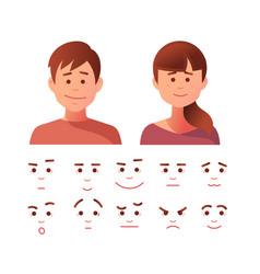 face icon set vector image vector image