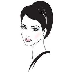 Fashion model illustration vector