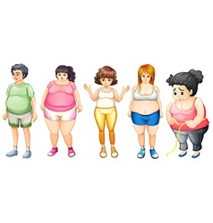 Fat people vector image vector image