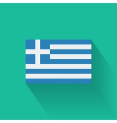 Flat flag of Greece vector image vector image