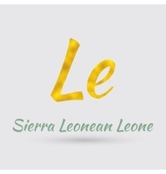Golden symbol of the sierra leonean leone vector