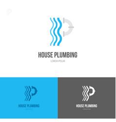 House plumbing logo vector