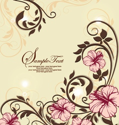 Invitation vintage card with floral ornament vector image vector image
