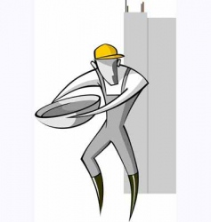 man working in the site vector image