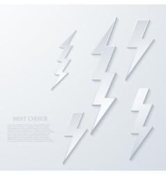 modern lightning background vector image vector image