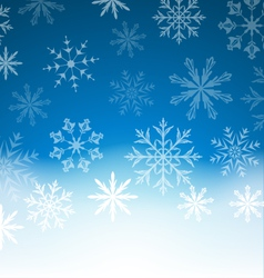 New Year blue background with snowflakes and copy vector image vector image