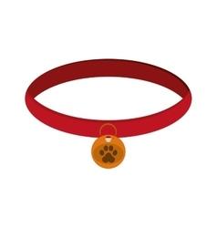 pet collar icon vector image