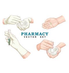pharmacy set vector image vector image