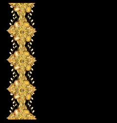 seamless oriental ornament in the style of vector image vector image