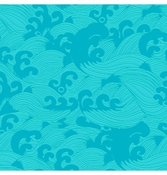 Seamless pattern with waves vector