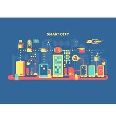 Smart city concept vector image vector image