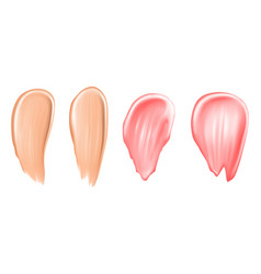 Tone strokes or lipstick smudges vector