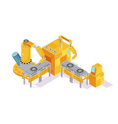 welding conveyor isometric vector image