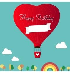 aerostats heart inscription happy birthday vector image