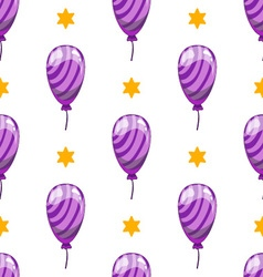 Seamless pattern with cute cartoon balloons 4 vector