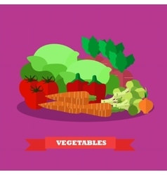 Vegetable food products in vector