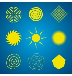 Abstract Sun Set vector image