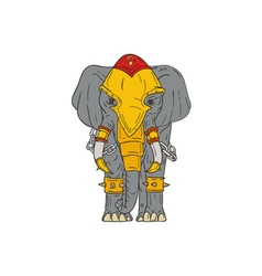 War elephant drawing vector