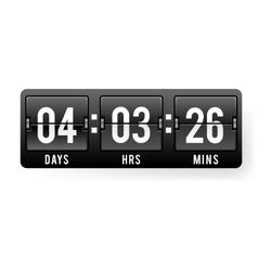 Sale badge sticker timer discount black friday vector image