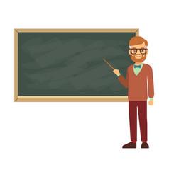 Teacher professor standing in front of blank vector