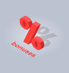 Bonuses for online purchases isolated vector