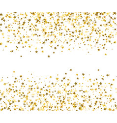Golden stars with blank space in the center vector