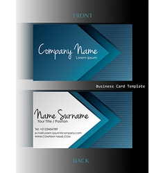 A business card template vector