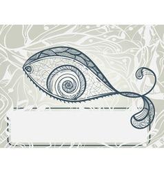 eye shaped fish vector image