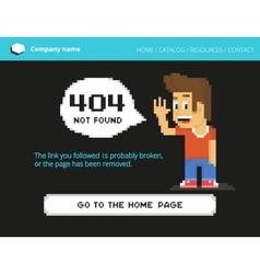 Pixel boy 404 error vector image