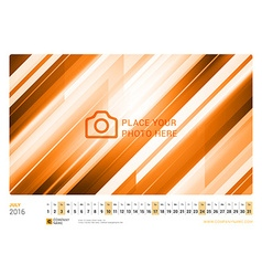 Wall monthly line calendar for 2016 year design vector