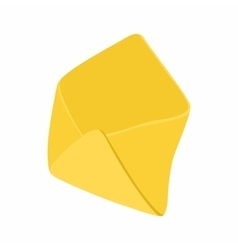 Open yellow envelope icon in cartoon style vector