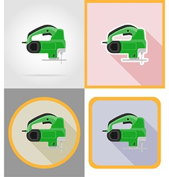Electric repair tools flat icons 01 vector