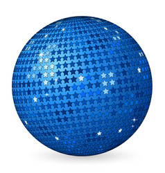abstract ball blue with stars vector image vector image