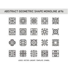 Abstract geometric shape monoline 96 vector
