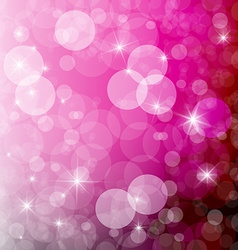 Abstract Pink Blurred Bokeh Background vector image