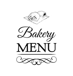 Bakery Shop Logo Template Design Element Vintage vector image vector image
