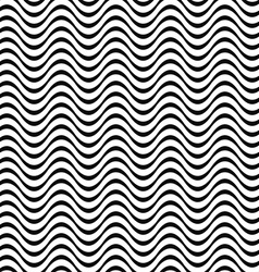 Black and white 3d seamless wave pattern vector