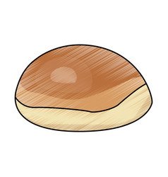 Bread bun round fresh bakery icon vector