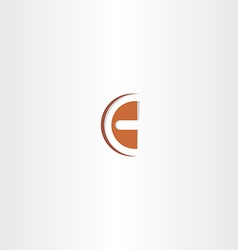 Brown logo letter c icon vector