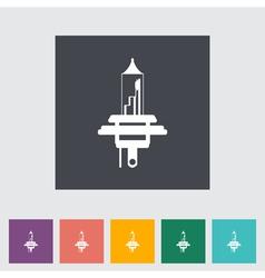 Car bulb vector image vector image