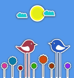 Fancy birds collage vector image vector image