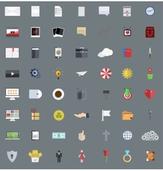 flat modern icons set Eps 10 vector image vector image