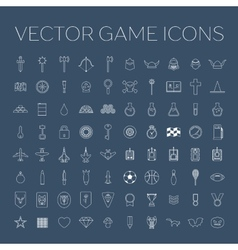 line art game icons set vector image