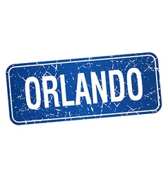 Orlando blue stamp isolated on white background vector